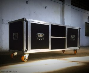 Commode Tournée Flightcase Style 150 x 50 x 50 cm Black